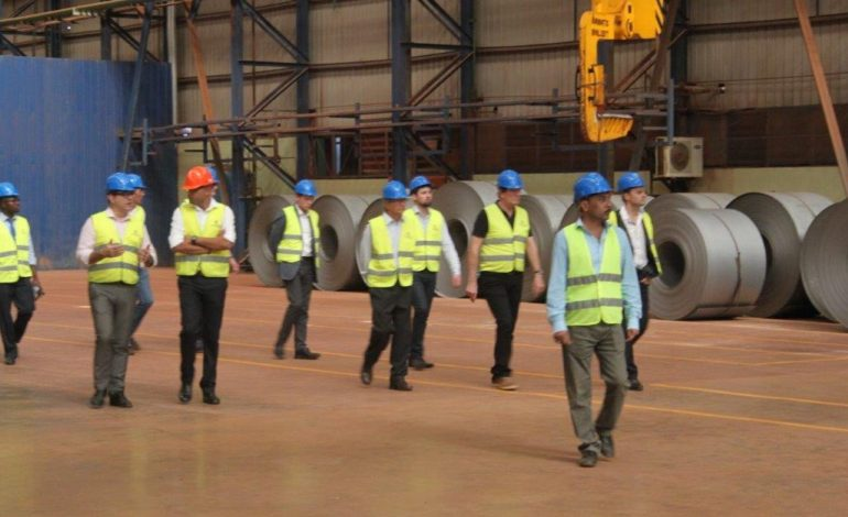 Uganda's steel manufacturer hosts Lord Popat and delegation from British High Commission